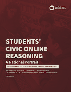 Students' Civic Online Reasoning | Stanford History Education Group