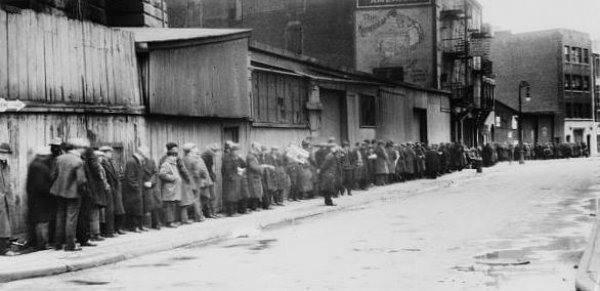 Photograph of Breadline in Brooklyn