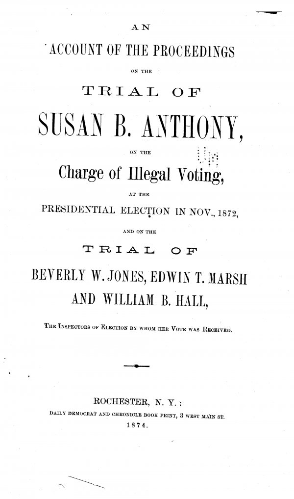 Trial of Susan B. Anthony