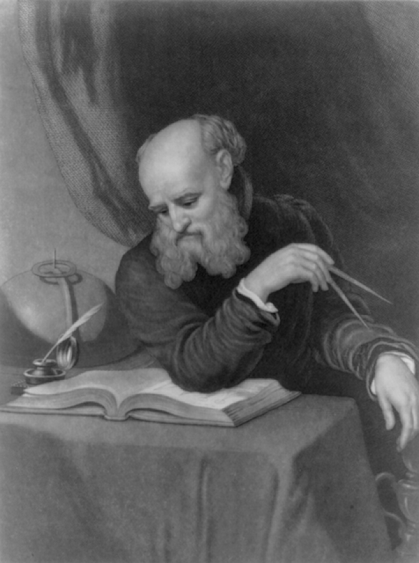 Image: Print of Galileo by Samuel Sartain from painting by Wyatt, date unknown. From the Library of Congress. In 1633, scientist Galileo Galilei was convicted of heresy by the Inquisition. He was forced to recant his beliefs and spent the rest of his life under house arrest. Students may be surprised to learn Galileo's crime: teaching the sun, rather than the earth, is at the center of the solar system. In this lesson, students explore three primary sources and one New York Times article to answer the quest