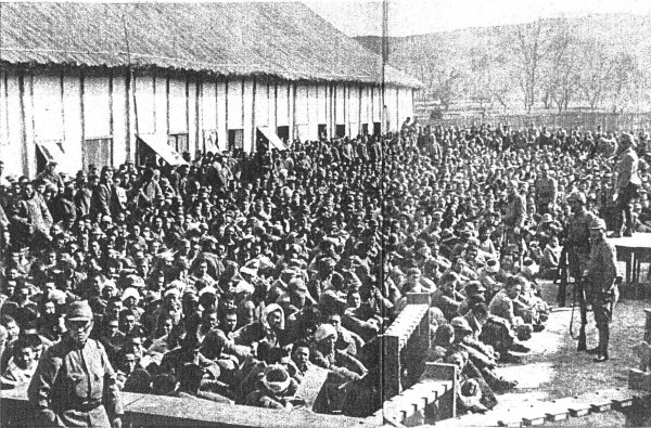 Image: Photo of Chinese captives imprisoned by Japanese troops taken in 1937. From the Wikimedia Commons.