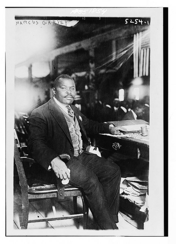 Image: Photo of Marcus Garvey taken in 1924. From the Library of Congress.