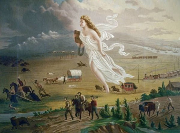 Image: American Progress, painted by George A. Crofutt in 1873. From the Library of Congress.