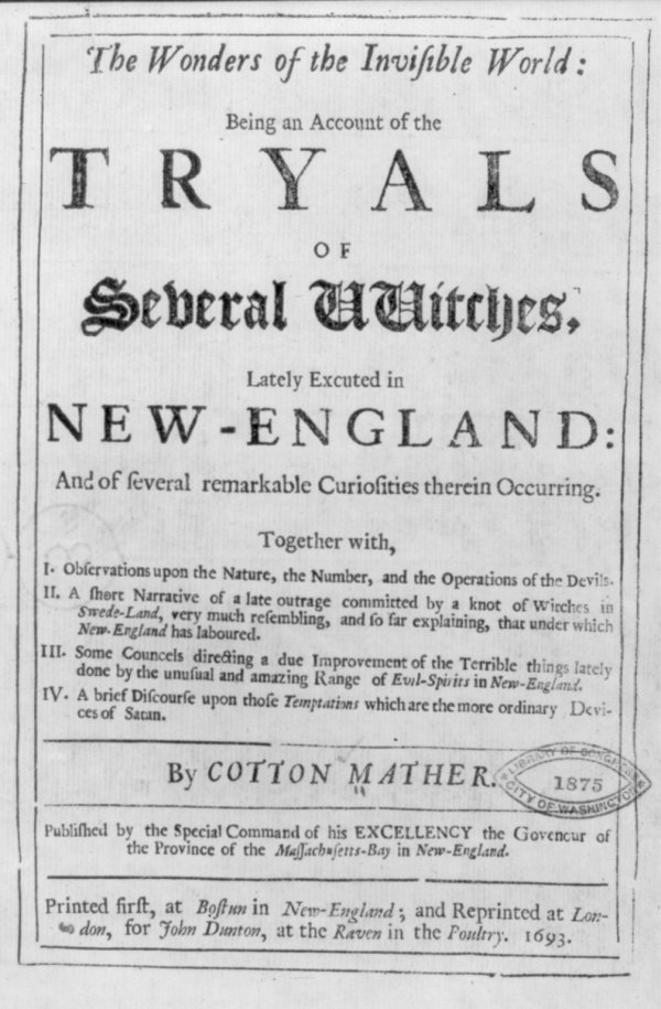 Salem Witch Trials | Stanford History Education Group