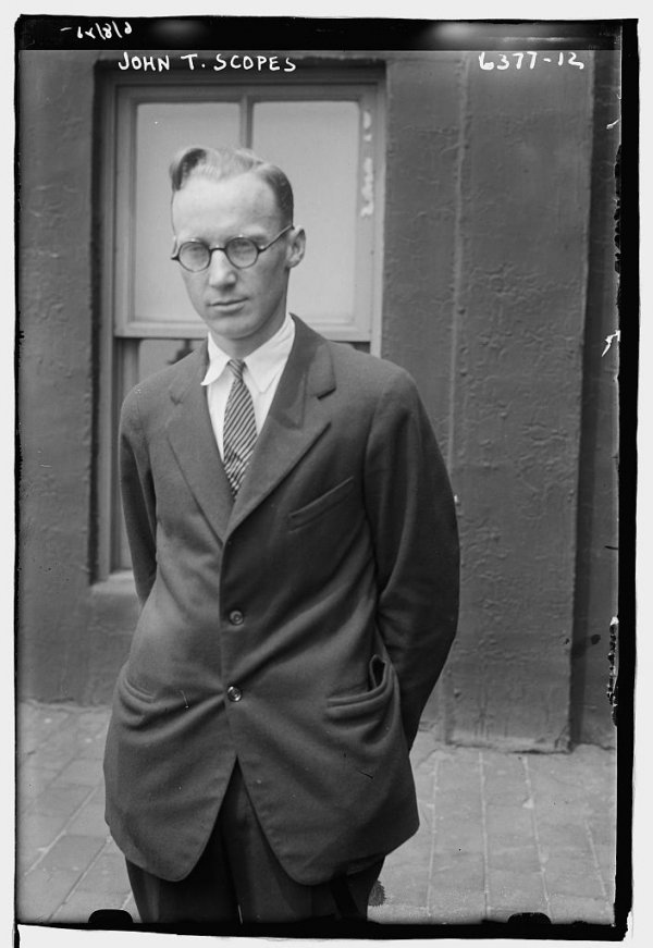 Image: Photo of John T. Scopes published by Bain News Service. From the Library of Congress.