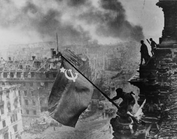 Soviet flag over the Reichstag image