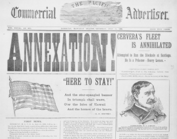 Annexation newspaper article. From the Library of Congress