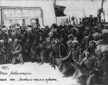 Photograph of soldiers in Saint Petersburg. From the Library of Congress