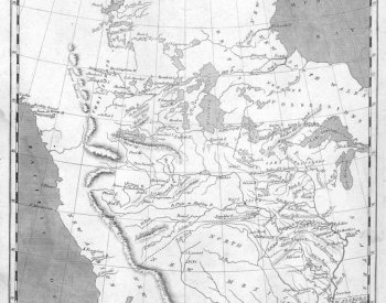 Image: Map of Louisiana Purchase made by Samuel Lewis in 1805. From the Library of Congress.