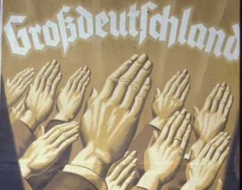 Image: 1938 Nazi referendum poster. From the Nazi Propaganda Archive.