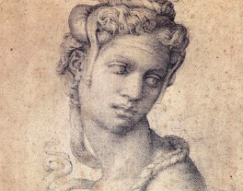 Image: Drawing of Cleopatra made by Michelangelo between 1533 and 1534. From the Wikimedia Commons.