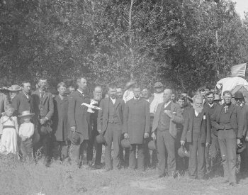 Image: Photo of Populist Convention in Nebraska taken by Solomon D. Butcher in 1892. From the Library of Congress.