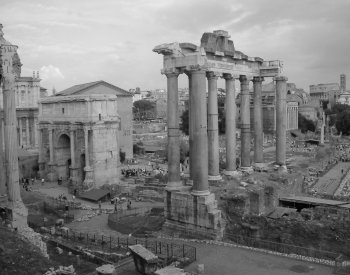 Image: Photograph of the Roman Forum taken in 2005. From the Wikimedia Commons.