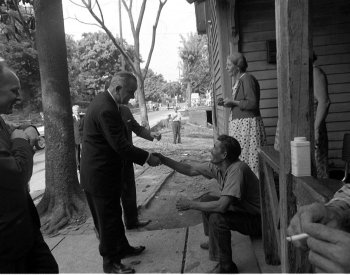 Image: Photo from President Johnson's poverty tour taken by Cecil Saughton in 1964. From the Wikimedia Commons.