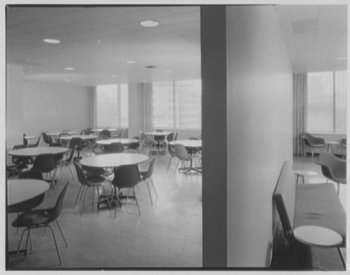 Image: Girl Scout Building Lunchroom, New York City. Gottscho-Schleisner, Inc. From the Library of Congress.