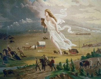 Image: American Progress, painted by John Gast in 1872. From the Library of Congress.