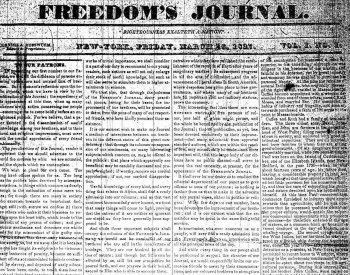 Image: Freedom's Journal Volume 1, March 16, 1827