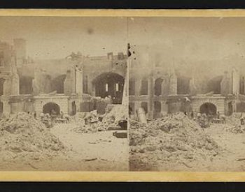 Image: Photograph of Fort Sumter after the bombardment, dated between 1861-1865. From the Library of Congress.