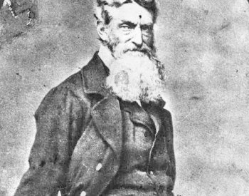 Image: Photograph of John Brown in 1859. From the Wikimedia Commons.
